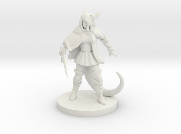 Female  Half Dragon Fighter in White Natural Versatile Plastic