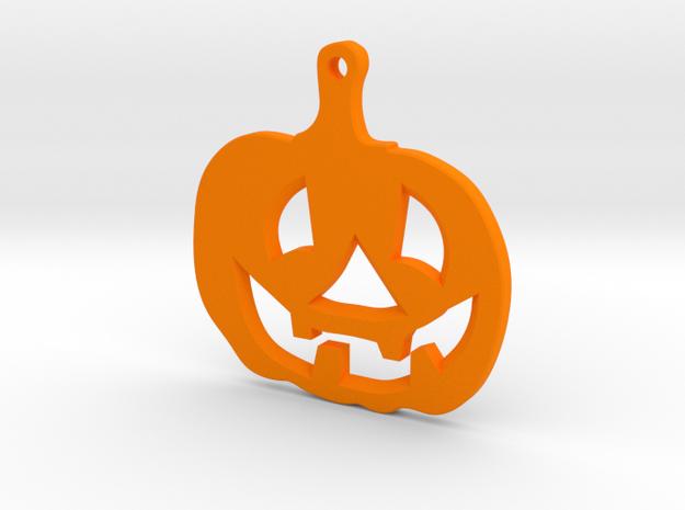 Halloween emblem in Orange Processed Versatile Plastic