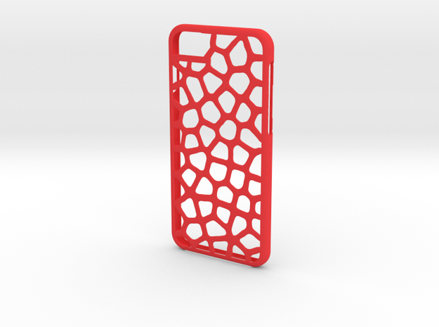 Iphone 6 leopard case in Red Processed Versatile Plastic