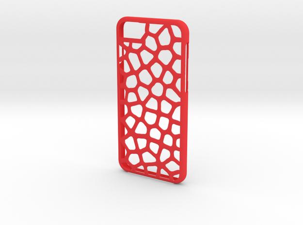 Iphone 6 leopard case in Red Processed Versatile Plastic