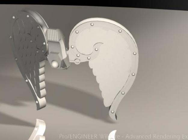 4x Mech Angel Wings in Smooth Fine Detail Plastic