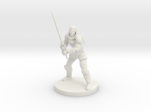 Elven Great Weapon Fighter in White Natural Versatile Plastic