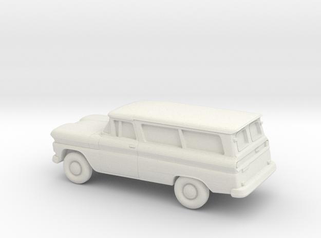 1/87 1960-61 Chevrolet Suburban Split Doors in White Natural Versatile Plastic