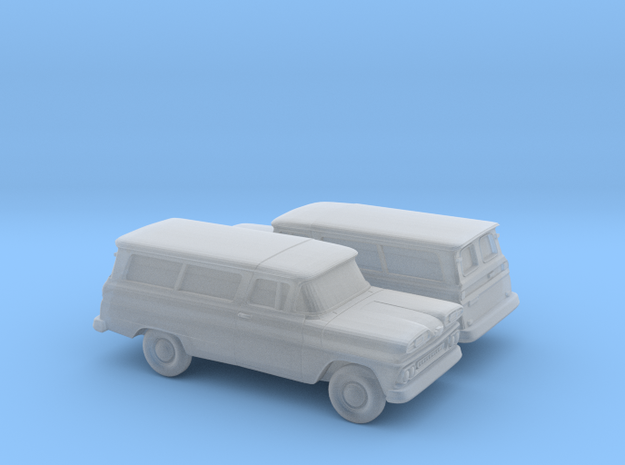 1/160 2X 1960-61  Chevrolet Suburban Split Doors in Smooth Fine Detail Plastic