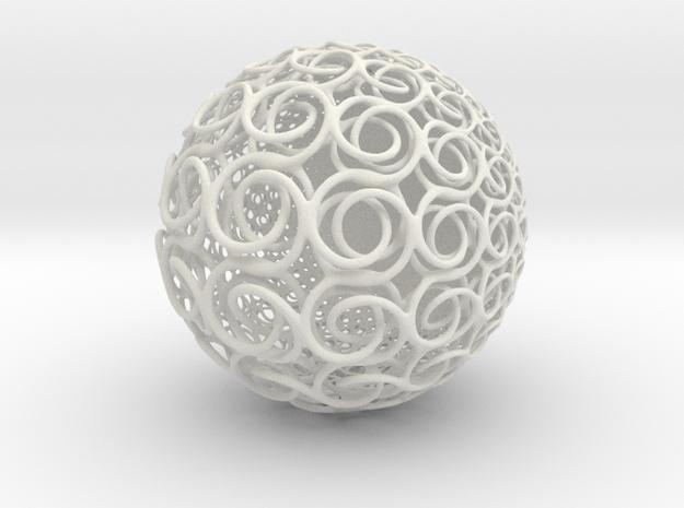 ks Sphere in White Natural Versatile Plastic