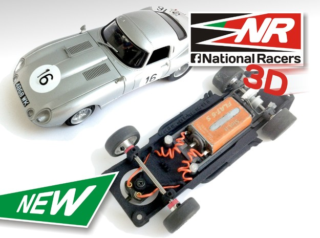 3D Chassis - Revell Jaguar E-Type - Inline