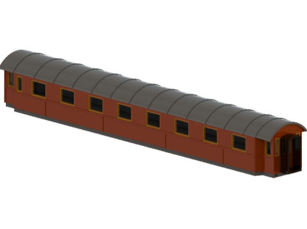 Bo4b - Swedish passenger wagon in Frosted Ultra Detail