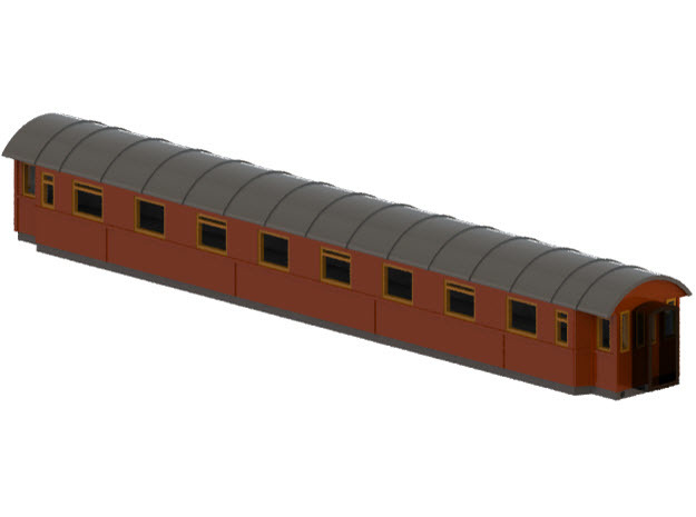 Bo5b - Swedish passenger wagon in Frosted Ultra Detail