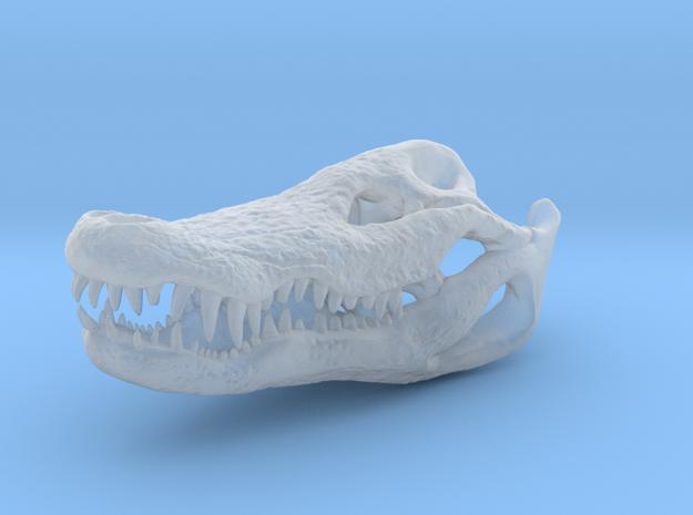 Crocodile Head Skeleton Pendant [30mm] in Smooth Fine Detail Plastic
