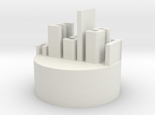 """Q-10: """"Resist"""" by Arielle Assouline-Lichten in White Natural Versatile Plastic"""
