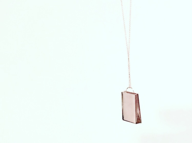 Plain Bag Charm in 14k Rose Gold Plated