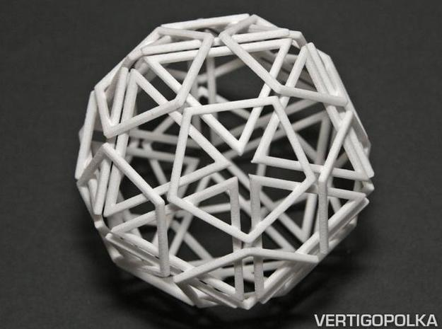 Exploded Polyhedra in White Strong & Flexible
