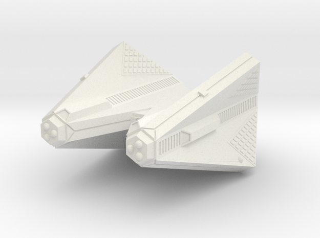3788 Scale Tholian Command Cruiser (CC) SRZ in White Strong & Flexible