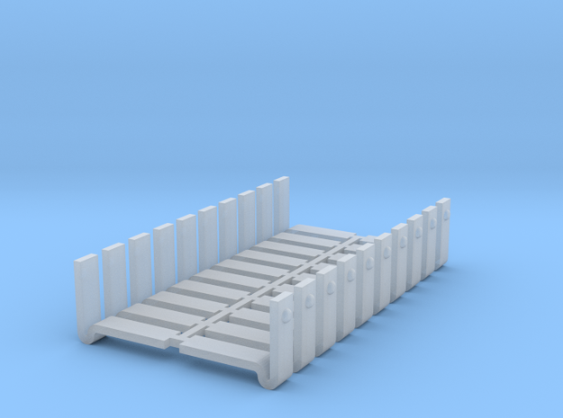 D&RGW style boxcar corner braces v2 in Smooth Fine Detail Plastic