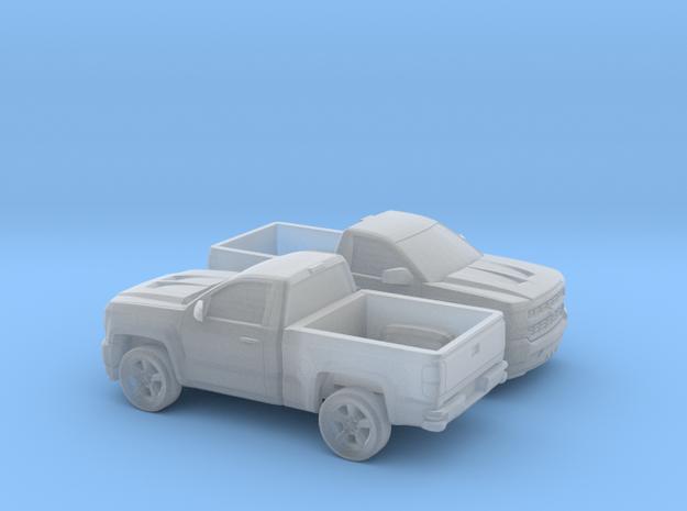 1/200 2X 2016 Chevrolet Silverado Single Cab Short in Smooth Fine Detail Plastic