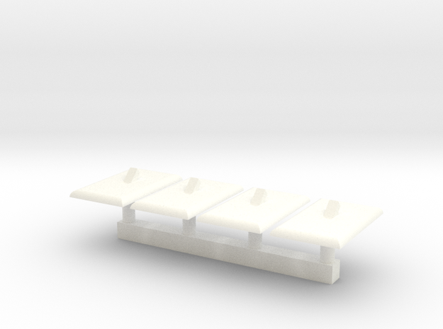Light Switch Faces; 1/16 Scale - Qty 4 in White Processed Versatile Plastic