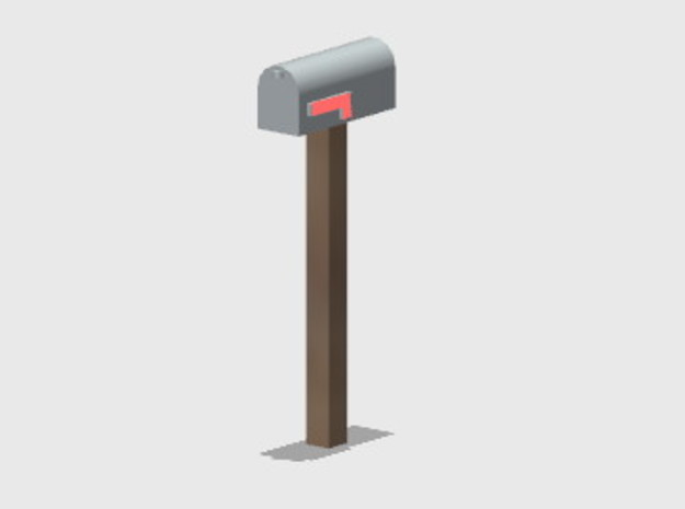Residential Mailbox - Square Post (8 ea.) in Smooth Fine Detail Plastic: 1:87 - HO