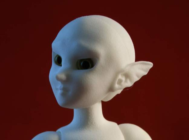 BJD Sprite Head: Ylva in White Processed Versatile Plastic