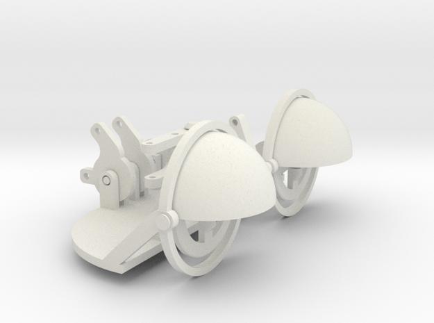 30 to 40mm eye gimble 70mm apart in White Natural Versatile Plastic