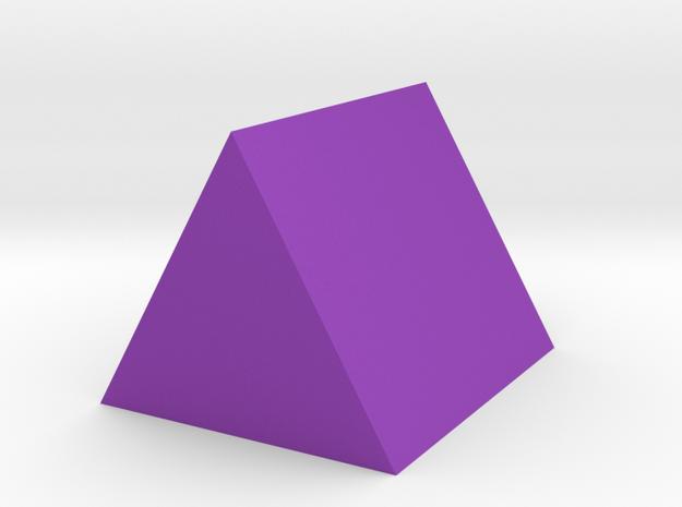 Tri-Prism in Purple Processed Versatile Plastic: Extra Small
