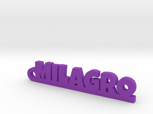 MILAGRO_keychain_Lucky in Purple Processed Versatile Plastic