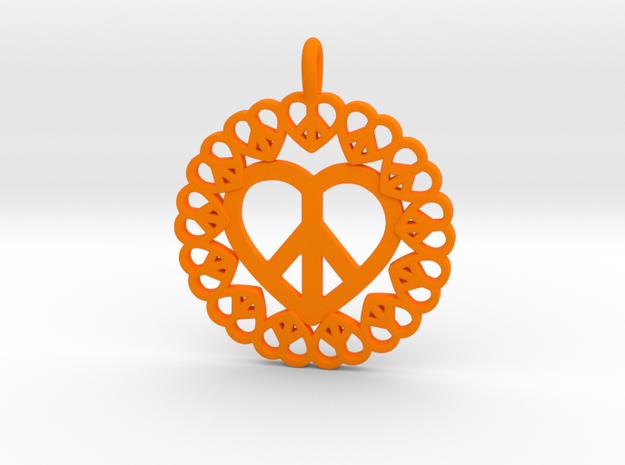 21 - Pretzel Hearts in Orange Processed Versatile Plastic: Small