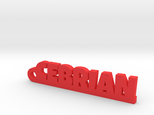 CEBRIAN_keychain_Lucky in Red Processed Versatile Plastic