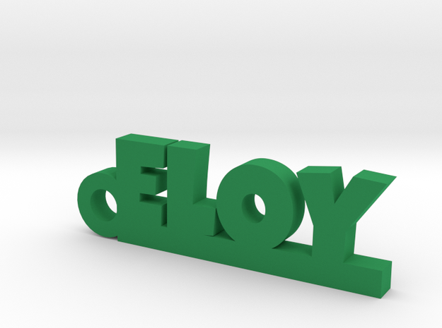 ELOY_keychain_Lucky in Green Processed Versatile Plastic