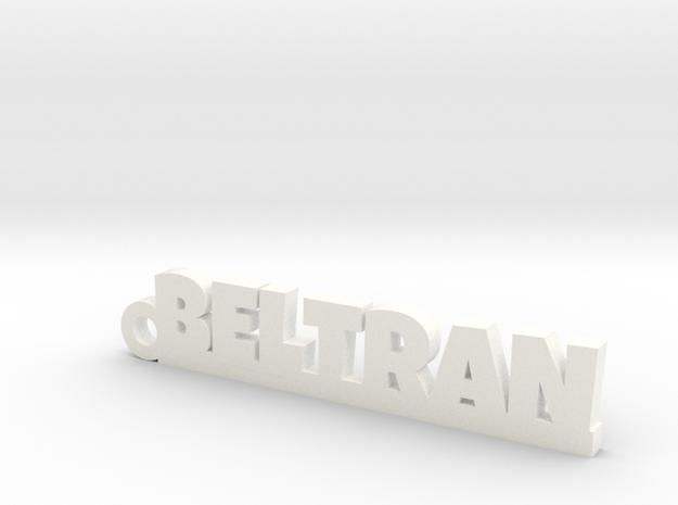 BELTRAN_keychain_Lucky in White Processed Versatile Plastic