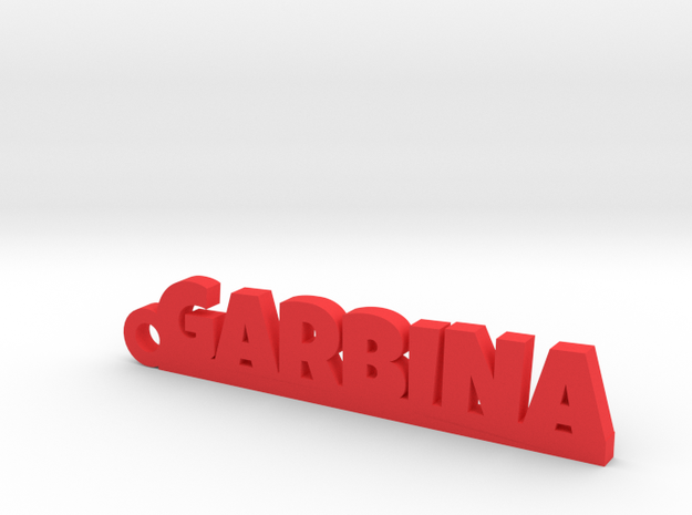 GARBINA_keychain_Lucky in Red Processed Versatile Plastic