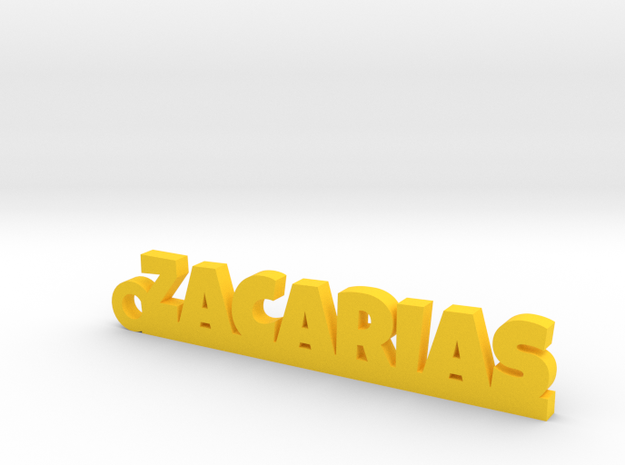 ZACARIAS_keychain_Lucky in Yellow Processed Versatile Plastic