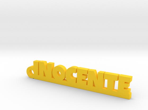 INOCENTE_keychain_Lucky in Yellow Processed Versatile Plastic