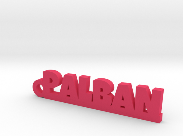 PALBAN_keychain_Lucky in Pink Processed Versatile Plastic