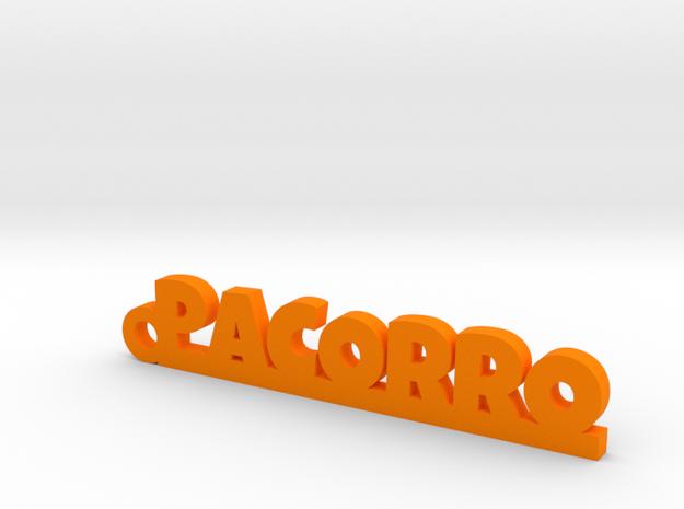 PACORRO_keychain_Lucky in Orange Processed Versatile Plastic