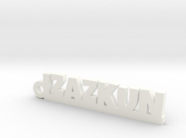 IZAZKUN_keychain_Lucky in White Processed Versatile Plastic