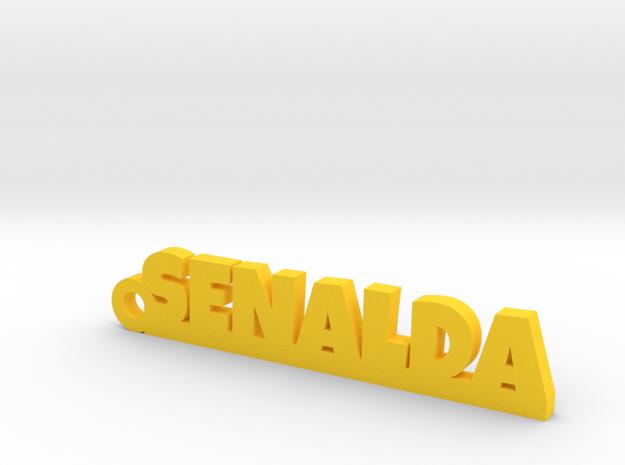 SENALDA_keychain_Lucky in Yellow Processed Versatile Plastic