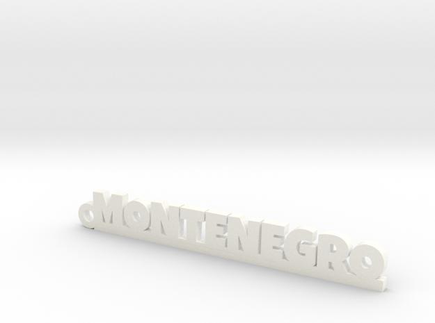 MONTENEGRO_keychain_Lucky in White Processed Versatile Plastic