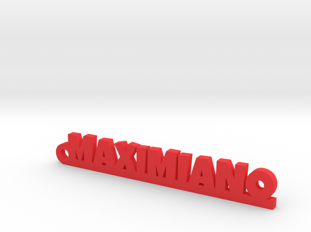 MAXIMIANO_keychain_Lucky in Red Processed Versatile Plastic