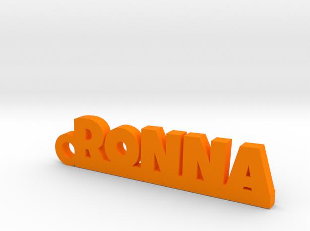 RONNA_keychain_Lucky in Orange Processed Versatile Plastic