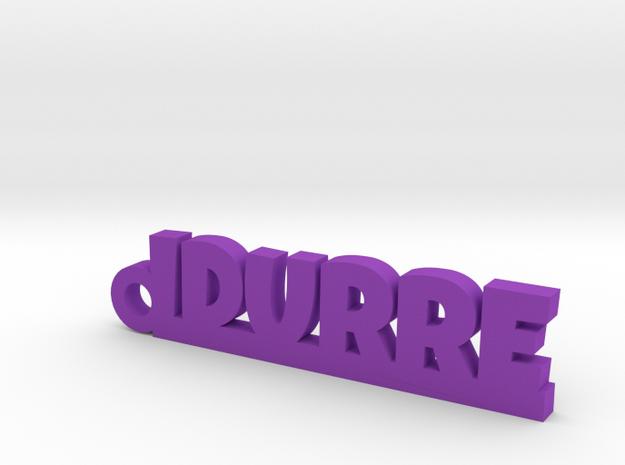 IDURRE_keychain_Lucky in Purple Processed Versatile Plastic