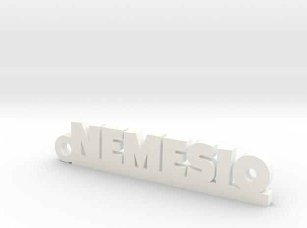 NEMESIO_keychain_Lucky in White Processed Versatile Plastic