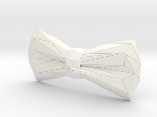 ORIGAMI Bowtie by BITS TAILOR - READ DESCRIPTION in White Processed Versatile Plastic