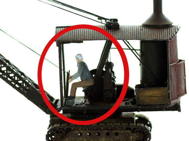 Equipment OPERATOR SEATED O Scale in Smooth Fine Detail Plastic