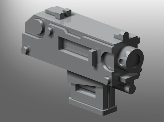 Human-sized Thunder-pistol in Smooth Fine Detail Plastic: Small