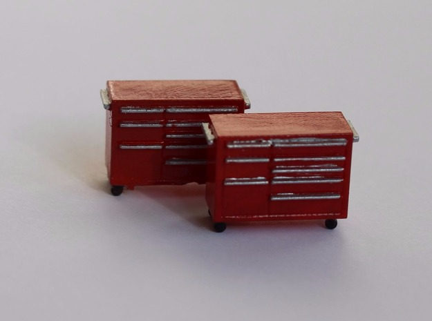 HO Scale 2x Snap-On Toolbox in Smooth Fine Detail Plastic