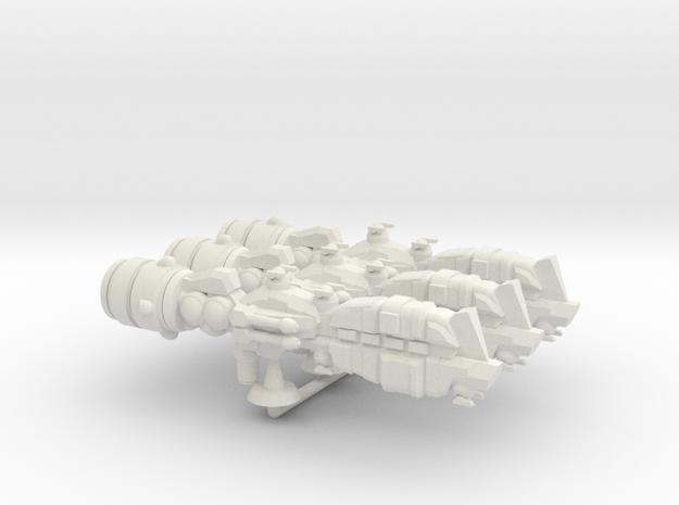 Carroccio Assault Cruiser Squadron - 1:7000 in White Natural Versatile Plastic