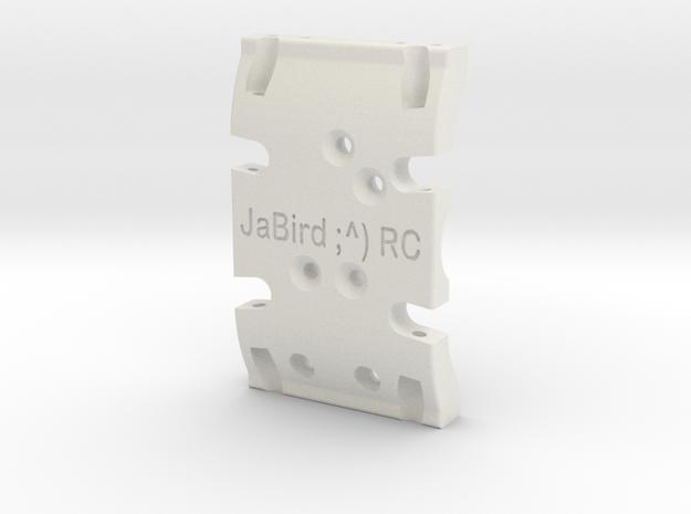 JaBird ;^) RC Dual Purpose SCX10 & SCX10.2 Skid Pl in White Natural Versatile Plastic