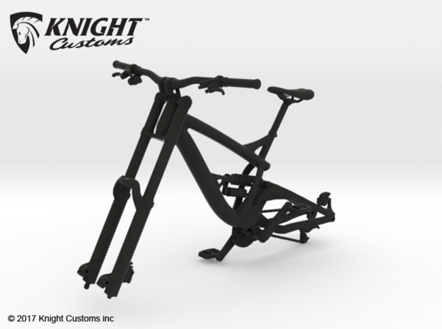 BK10001 MTB DH Frame 01 in Black Natural Versatile Plastic