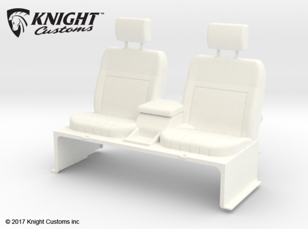 SR50018 SR5 Seats in White Processed Versatile Plastic