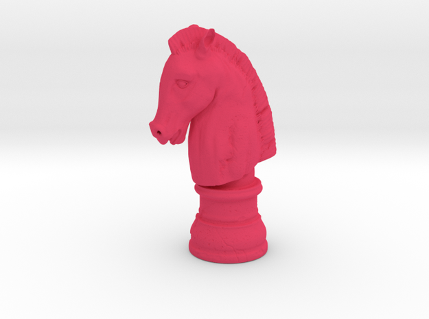 HORSE HEAD  in Pink Strong & Flexible Polished